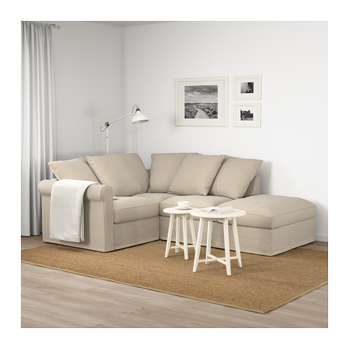 GRÖNLID - corner sofa, 3-seat, with open end/Sporda natural | IKEA Hong Kong and Macau - PE674973_S4
