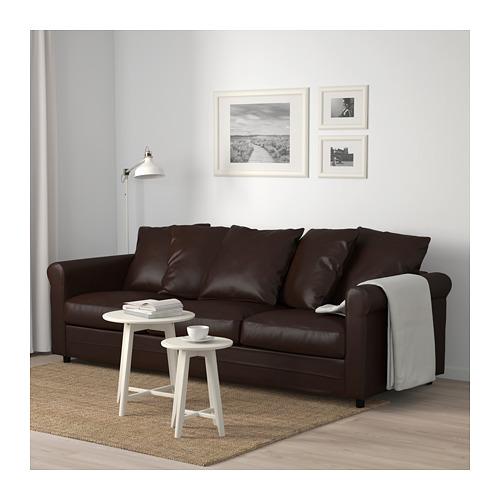 GRÖNLID - 3-seat sofa, Kimstad dark brown | IKEA Hong Kong and Macau - PE674972_S4