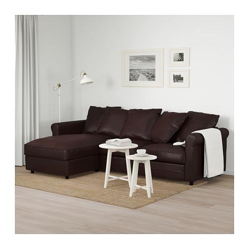 GRÖNLID - 3-seat sofa, with chaise longue/Kimstad dark brown   IKEA Hong Kong and Macau - PE675031_S4