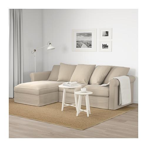 GRÖNLID - 3-seat sofa, with chaise longue/Sporda natural | IKEA Hong Kong and Macau - PE675022_S4