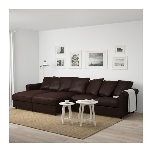 GRÖNLID - 4-seat sofa, with chaise longues/Kimstad dark brown | IKEA Hong Kong and Macau - PE675052_S4