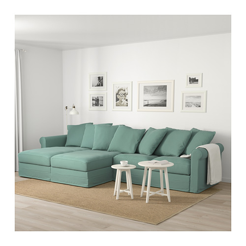 GRÖNLID - 4-seat sofa, with chaise longues/Ljungen light green | IKEA Hong Kong and Macau - PE675043_S4