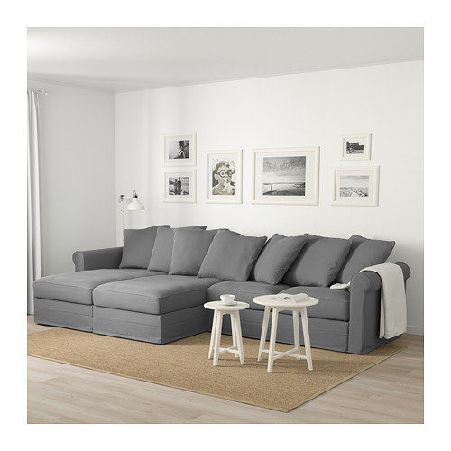 GRÖNLID - 4-seat sofa, with chaise longues/Ljungen medium grey | IKEA Hong Kong and Macau - PE675053_S4
