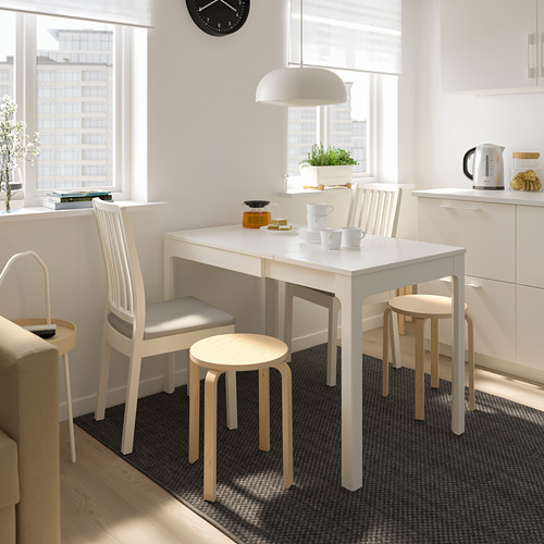 EKEDALEN/EKEDALEN - table and 2 chairs, white/Orrsta light grey | IKEA Hong Kong and Macau - PE719819_S4