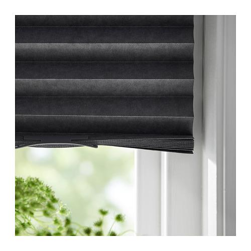 SCHOTTIS - block-out pleated blind, 100x190cm, dark grey | IKEA Hong Kong and Macau - PE719825_S4