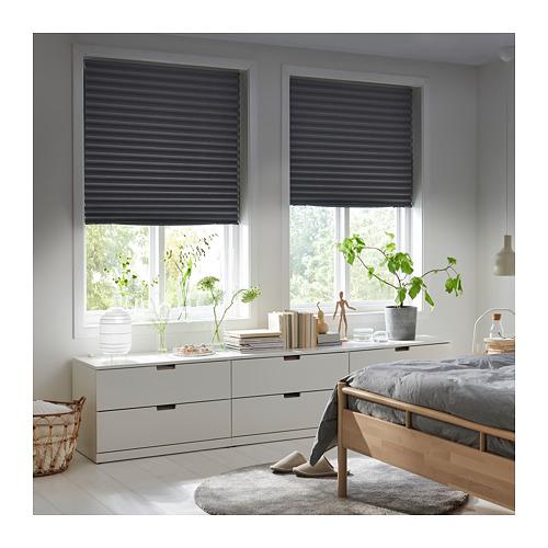 SCHOTTIS - block-out pleated blind, 100x190cm, dark grey | IKEA Hong Kong and Macau - PE719824_S4