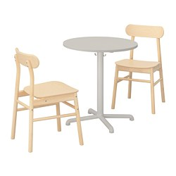 STENSELE/RÖNNINGE - table and 2 chairs, light grey/light grey birch | IKEA Hong Kong and Macau - PE719838_S3
