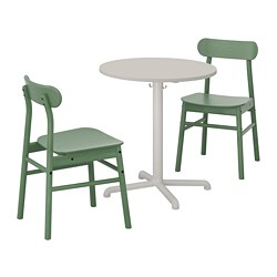 RÖNNINGE/STENSELE - table and 2 chairs, light grey/light grey green | IKEA Hong Kong and Macau - PE719840_S3