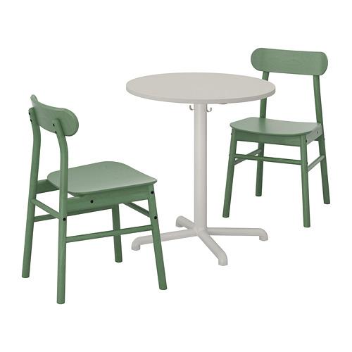 RÖNNINGE/STENSELE - table and 2 chairs, light grey/light grey green | IKEA Hong Kong and Macau - PE719840_S4