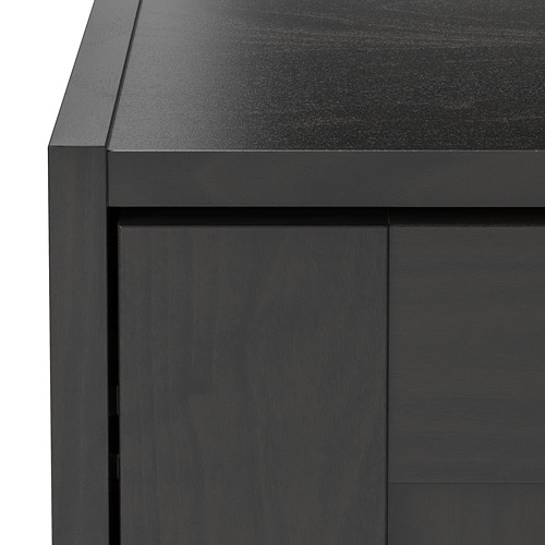 RAKKESTAD - wardrobe with 2 doors, black-brown | IKEA Hong Kong and Macau - PE760495_S4
