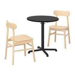 STENSELE/RÖNNINGE - table and 2 chairs, anthracite/anthracite birch | IKEA Hong Kong and Macau - PE719844_S3