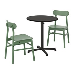 STENSELE/RÖNNINGE - 一檯兩椅, 炭黑色 炭黑色/綠色 | IKEA 香港及澳門 - PE719846_S3
