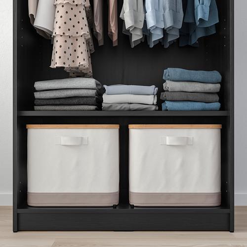 RAKKESTAD - wardrobe with 2 doors, black-brown | IKEA Hong Kong and Macau - PE760498_S4