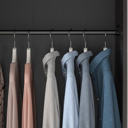 RAKKESTAD - wardrobe with 2 doors, black-brown | IKEA Hong Kong and Macau - PE760492_S4
