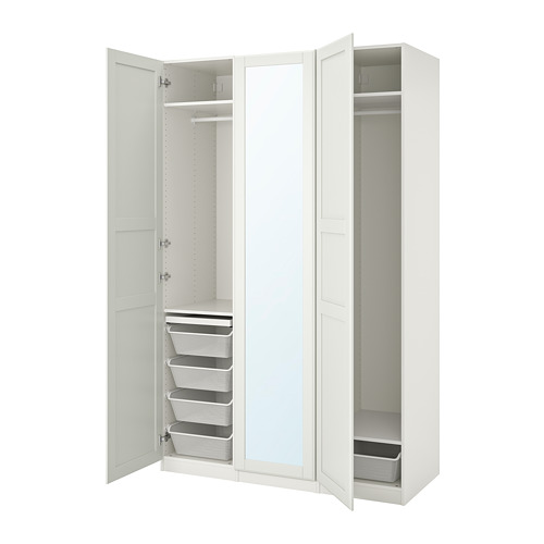 PAX/TYSSEDAL - wardrobe combination, white/mirror glass   IKEA Hong Kong and Macau - PE760013_S4