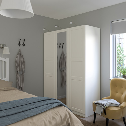 PAX/TYSSEDAL - wardrobe combination, white/mirror glass | IKEA Hong Kong and Macau - PE760010_S4