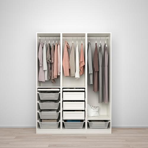PAX/TYSSEDAL - wardrobe combination, white/mirror glass | IKEA Hong Kong and Macau - PE760014_S4
