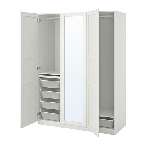 PAX/TYSSEDAL - wardrobe combination, white/mirror glass | IKEA Hong Kong and Macau - PE760012_S4