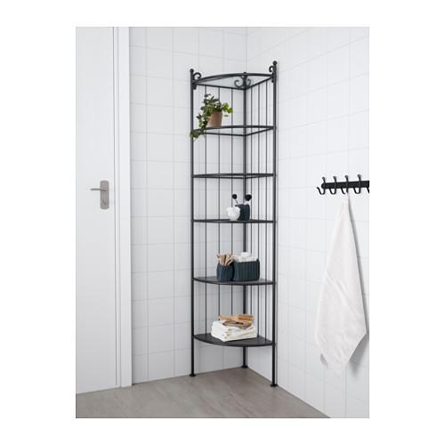 RÖNNSKÄR - 角位層架組合, 黑色 | IKEA 香港及澳門 - PE555426_S4