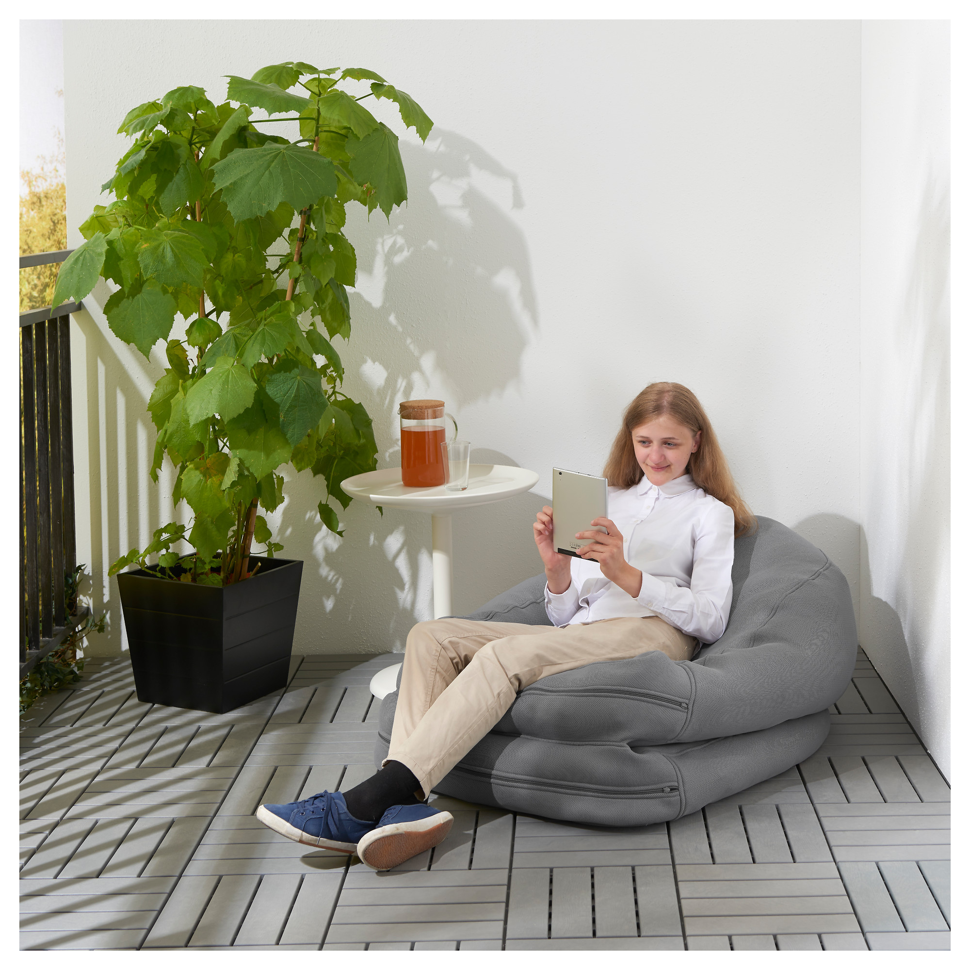 Astonishing Bussan Beanbag In Outdoor Grey Ikea Hong Kong Pdpeps Interior Chair Design Pdpepsorg