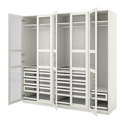 PAX/TYSSEDAL - wardrobe combination, white/white glass   IKEA Hong Kong and Macau - PE760057_S3