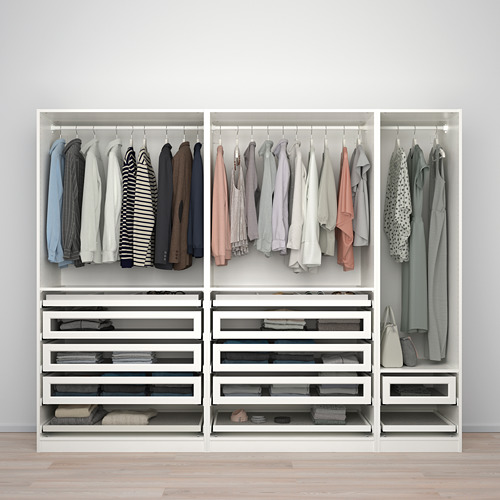 PAX/TYSSEDAL - wardrobe combination, white/white glass | IKEA Hong Kong and Macau - PE760056_S4