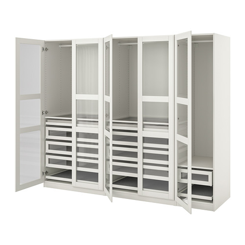 PAX/TYSSEDAL - wardrobe combination, white/white glass | IKEA Hong Kong and Macau - PE760055_S4