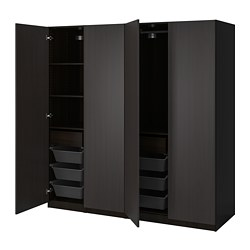 PAX/FORSAND - 衣櫃組合, black-brown/black-brown stained ash effect | IKEA 香港及澳門 - PE815040_S3