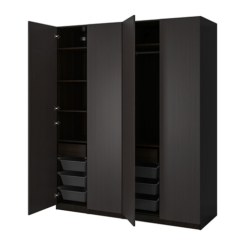 PAX/FORSAND - 衣櫃組合, black-brown/black-brown stained ash effect | IKEA 香港及澳門 - PE815039_S4
