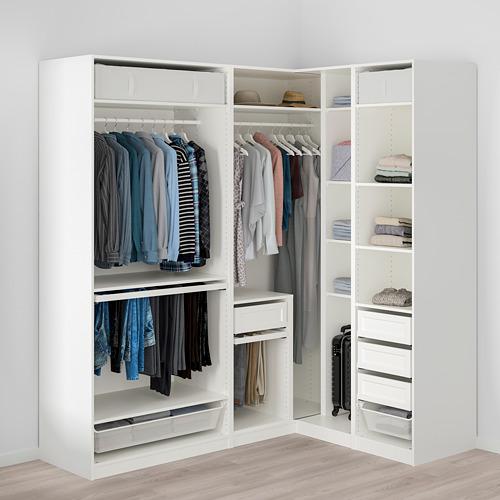 PAX - 角位衣櫃, 白色   IKEA 香港及澳門 - PE760145_S4