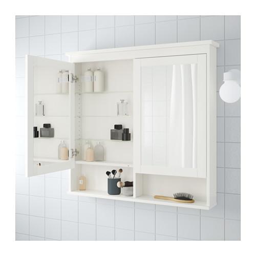 HEMNES - 雙門鏡櫃, 白色 | IKEA 香港及澳門 - PE555672_S4