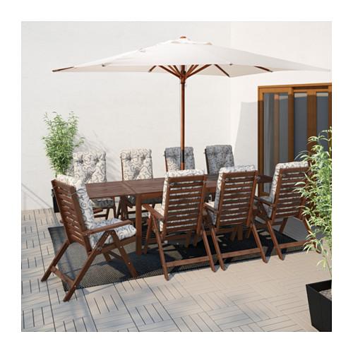 ÄPPLARÖ - drop-leaf table, outdoor, brown stained | IKEA Hong Kong and Macau - PE619225_S4