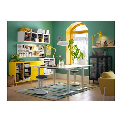 BEKANT - 升降式書檯, 160x80cm, 白色 | IKEA 香港及澳門 - PH146208_S4