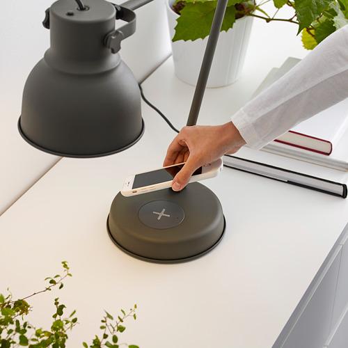 HEKTAR - 工作燈連無線充電座, 深灰色   IKEA 香港及澳門 - PE614485_S4