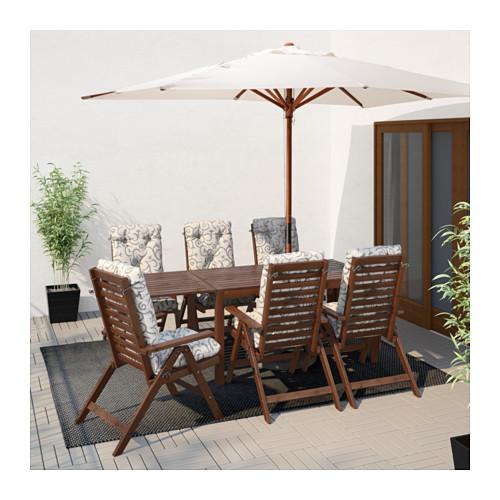 ÄPPLARÖ - drop-leaf table, outdoor, brown stained | IKEA Hong Kong and Macau - PE619265_S4