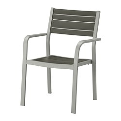 SJÄLLAND - chair with armrests, outdoor, light grey/dark grey | IKEA Hong Kong and Macau - PE670219_S3