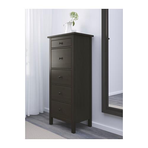 HEMNES - 五層抽屜櫃, 棕黑色   IKEA 香港及澳門 - PE555775_S4