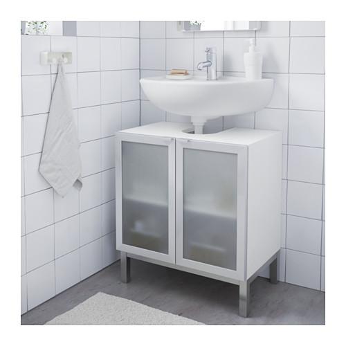 LILLÅNGEN 雙門洗手盆地櫃