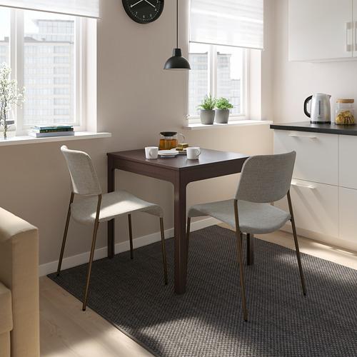 UDMUND/EKEDALEN - 一檯兩椅, 深褐色 褐色/Viarp 米黃色/褐色   IKEA 香港及澳門 - PE815216_S4