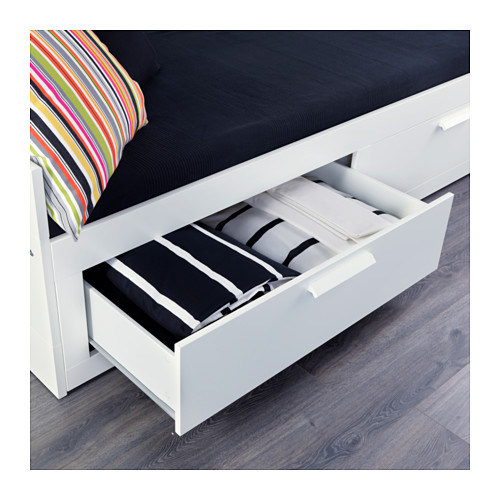 BRIMNES - 日間床連2抽屜及2床褥, 白色/Malfors 高度承托 | IKEA 香港及澳門 - PE555844_S4