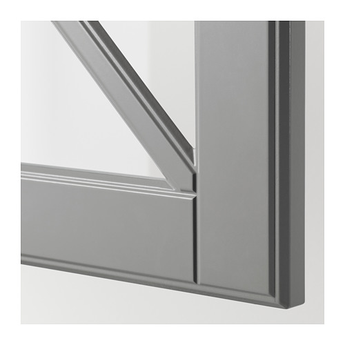 BODBYN - glass door with crossbar, grey | IKEA Hong Kong and Macau - PE670310_S4