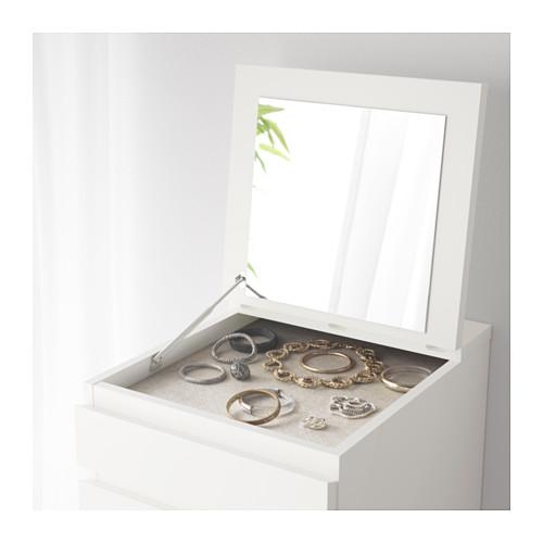 MALM - chest of 6 drawers, white/mirror glass   IKEA Hong Kong and Macau - PE556011_S4