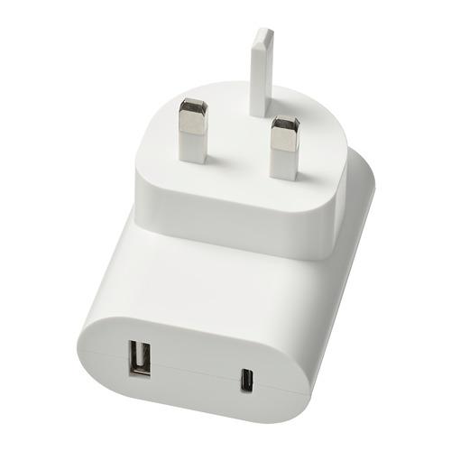 ÅSKSTORM - 23W USB充電器, 白色   IKEA 香港及澳門 - PE760682_S4