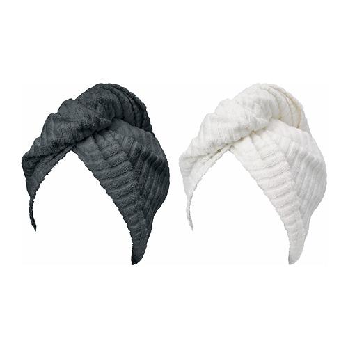 TRÄTTEN - 乾髮巾, 深灰色/白色 | IKEA 香港及澳門 - PE760703_S4