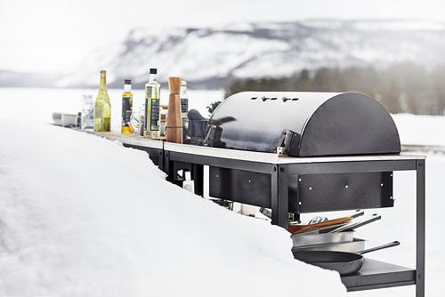 GRILLSKÄR - 燒烤炭爐連貯物櫃, 黑色/不銹鋼 戶外 | IKEA 香港及澳門 - PE815343_S4