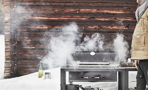 GRILLSKÄR - 燒烤炭爐連貯物櫃, 黑色/不銹鋼 戶外 | IKEA 香港及澳門 - PE815354_S4