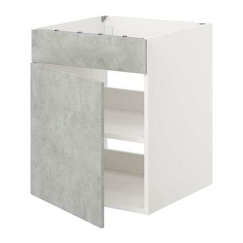 ENHET - 爐用地櫃連門, 白色/仿混凝土 | IKEA 香港及澳門 - PE815467_S4
