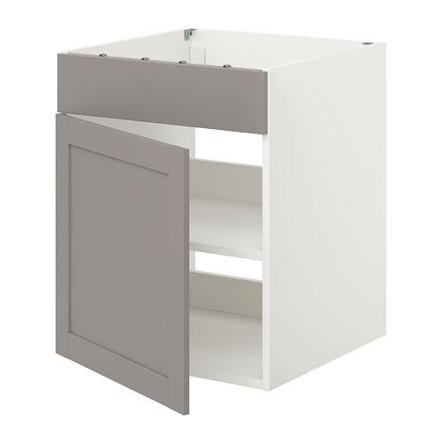ENHET - 爐用地櫃連門, 白色/灰色 框架 | IKEA 香港及澳門 - PE815470_S4
