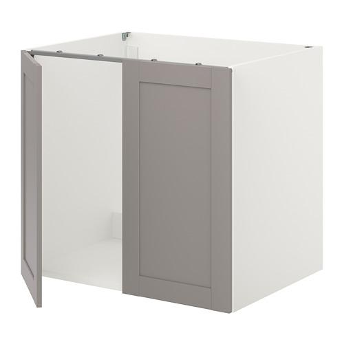 ENHET - 星盆用地櫃連門, 白色/灰色 框架 | IKEA 香港及澳門 - PE815504_S4