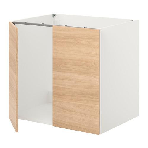 ENHET - 星盆用地櫃連門, 白色/橡木紋 | IKEA 香港及澳門 - PE815502_S4